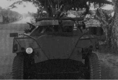 Front view of Humber Scout Car