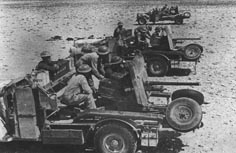 2 pdr Anti-Tank Gun being used Portee