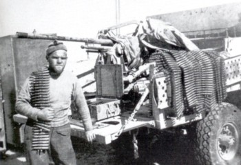 20mm Breda AA/AT Gun mounted Portee