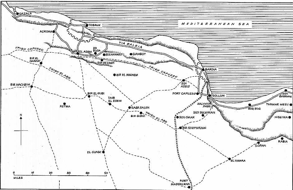 Map of Operation Crusader