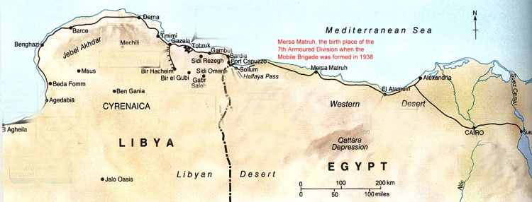 rommel north africa map