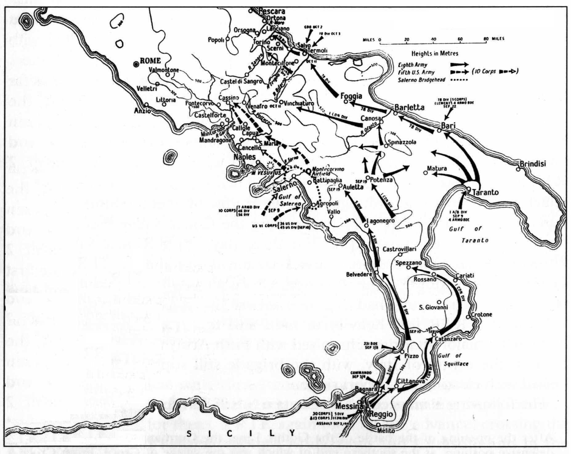 Engagements fought by the 7th Armoured Brigade in 1944