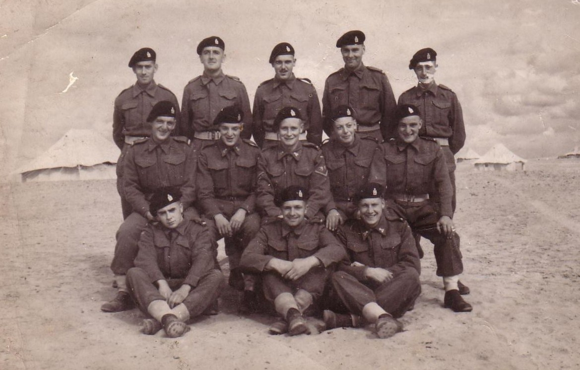 Men from a Sqn, 3rd CLY winter 1942/1943. Does anyone know these men or Harold Dixon? Please click for a larger image.