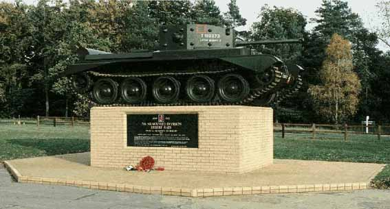 The Desert Rat Memorial, in Thetford Forest, near Mundford, Norfolk.